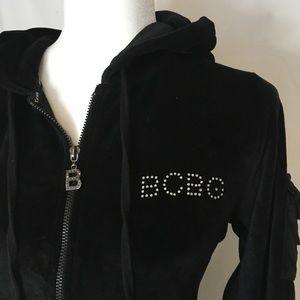BCBG velvet hoodie. Size large